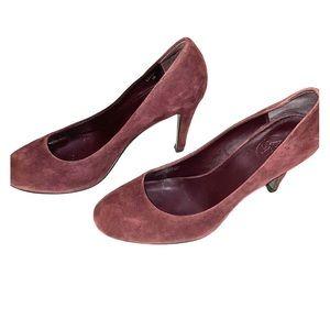Chloe heels in a gorgeous burgandy